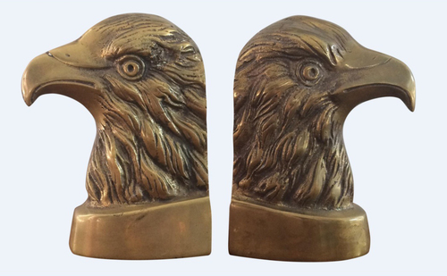 Eagle brass bookends (pair)