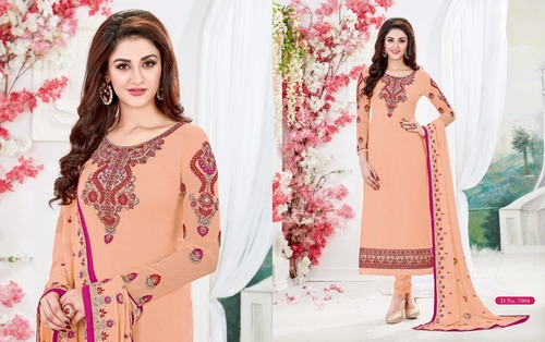 STYLISH STRAIGHT CUT SALWAR SUITS ( ANTIQUE  N