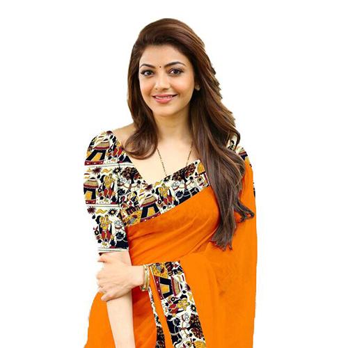 House Orange Chanderi Saree