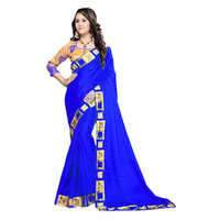 Melody Blue Chanderi Saree