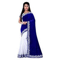 Chandani Blue Embroidered Saree
