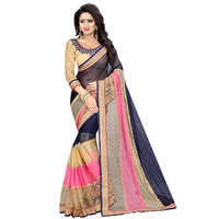 Pearl Navy Embroidered Saree