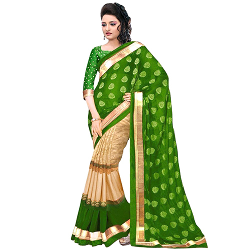 Julie Green Foil Saree