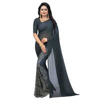 Honey Grey Georgette Saree
