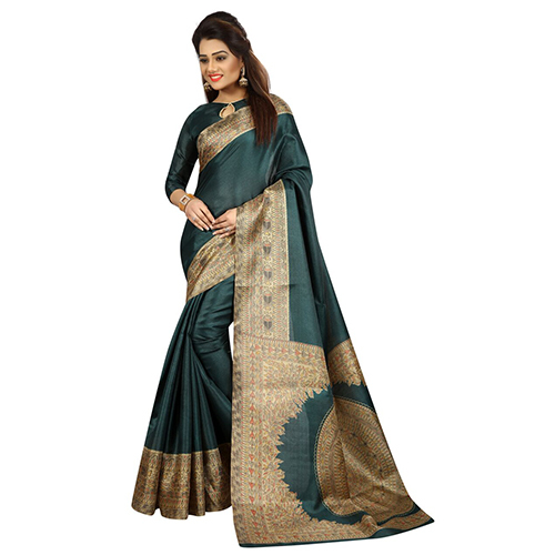 Green Kalamkari Silk Saree
