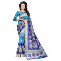 Blue Mysore Art Silk Saree