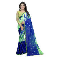 Ring Green Chiffon Saree