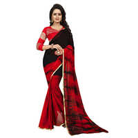 Sprinkle Red Chiffon Saree