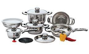 12 Pc Set Heavy Gauge 9 Ply Stainless Steel