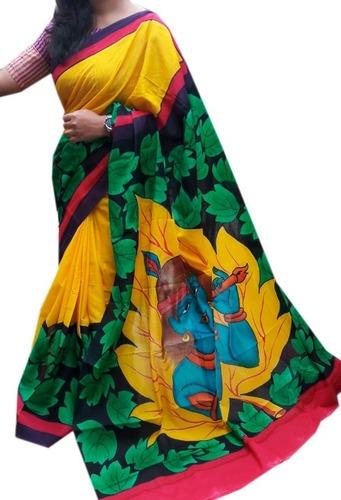 Indian Hand Printed Saree
