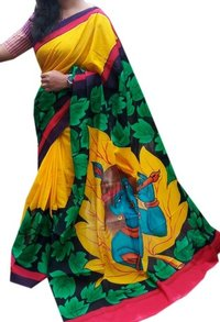 Indian Hand Printed Saree