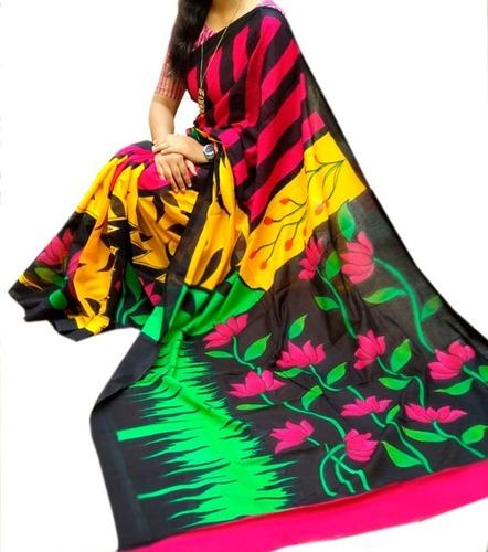 Stunning Hand Printed Saree