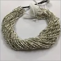 Natural Silver Pyrite Faceted Rondelle Beads Strand 3.5-4mm