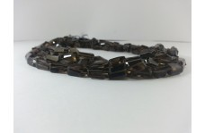 Natural Smoky Quartz Faceted Nugget Shaped Beads Strand