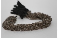 Natural Smoky Quartz Faceted Rondelle Beads 4mm