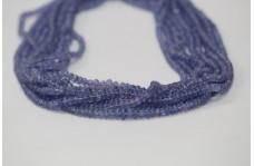 Natural Tanzanite Plain Smooth Rondelle Beads 3-4.5mm