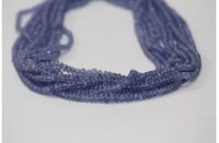 Natural Tanzanite Plain Smooth Rondelle Beads 3-4.5mm