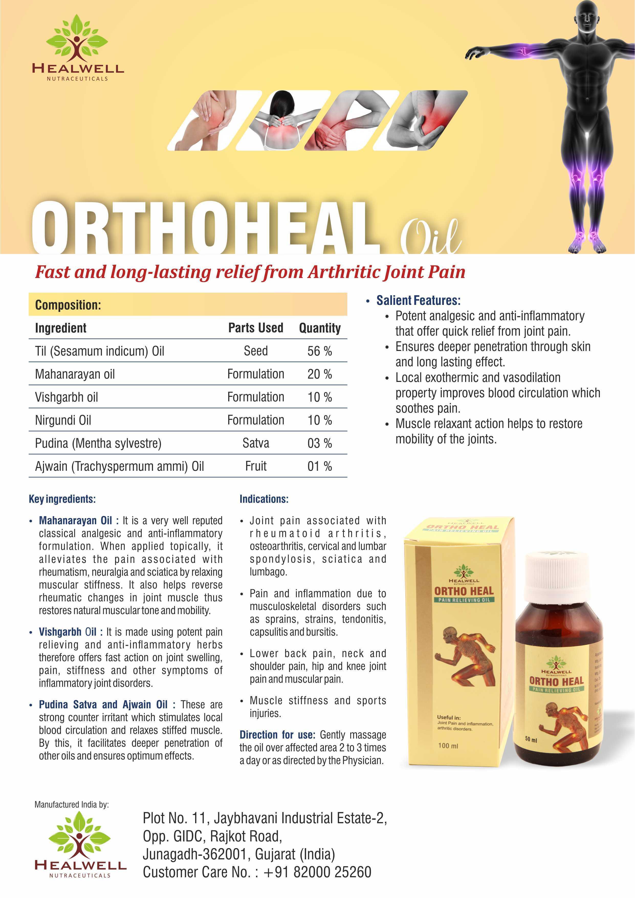 Herbal / Ayurvedic Pain Relief Oil