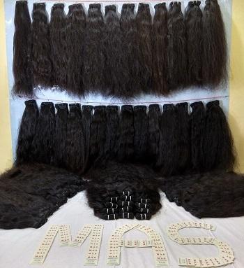 Unprocessed Black Natural  Indian Human Hair