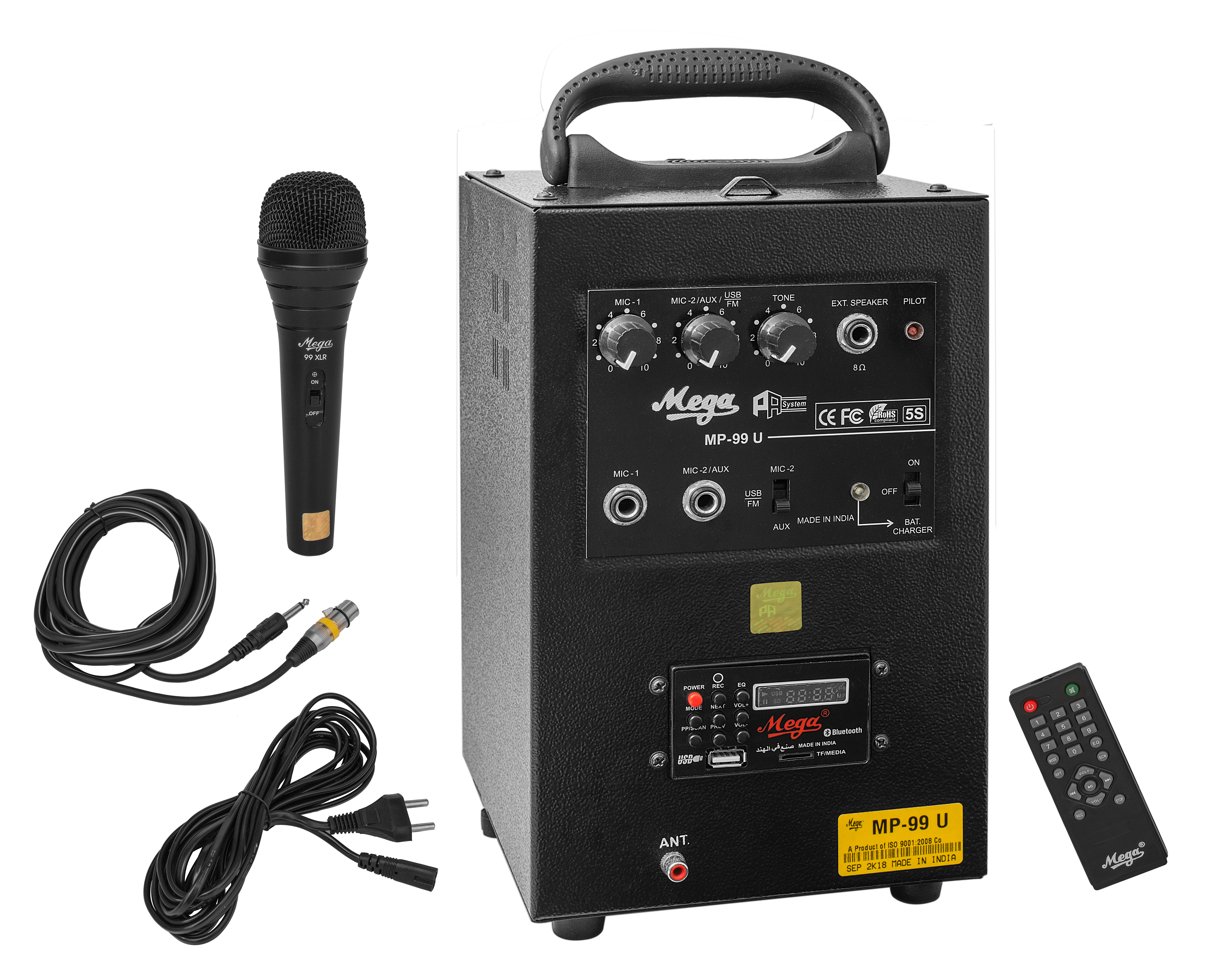 MP-99U 40WATTS PORTABLE SYSTEM WITH 1 EXTERNAL SPEAKER