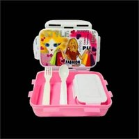 Pink Plastic Lunch Box