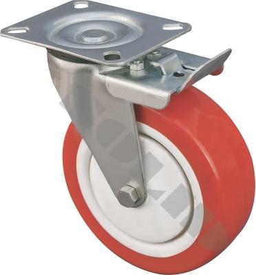 Medium Duty Pressed Steel Caster with Brake
