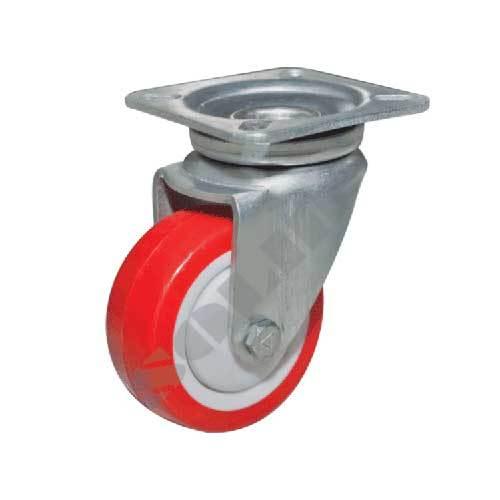 Medium Heavy Duty Eyelet Pressed Steel Caster