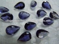 3x5mm Natural Purple Iolite Gemstone Faceted Pears Loose Stone