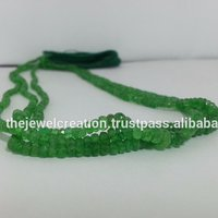 Natural Green Garnet Faceted Gemstone Bead