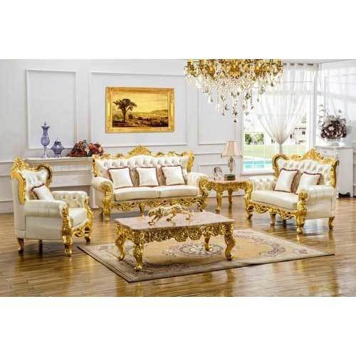 Gold Luxurious Sofa Set