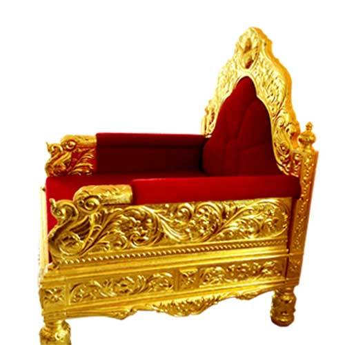Gold Mounted Sofa Chair