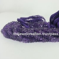 AAA Natural Amethyst Faceted Rondelle Beads Strand