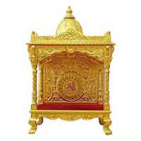 Royal gold plated home temple