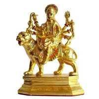 Gold Plated Amba Mata Statue