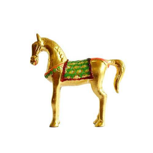 Gold Plated Horse Statue