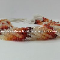 Natural Mexican Fire Opal Shaded Faceted Rondelle Beads