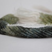 Natural Moss Aquamarine Stone Faceted Rondelle Beads Gemstone