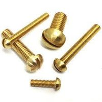 brass round head screw