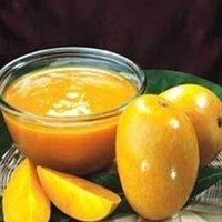 tasty mango pulp