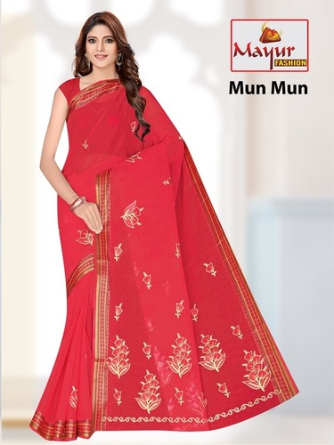 Mun-Mun Cotton Work Saree