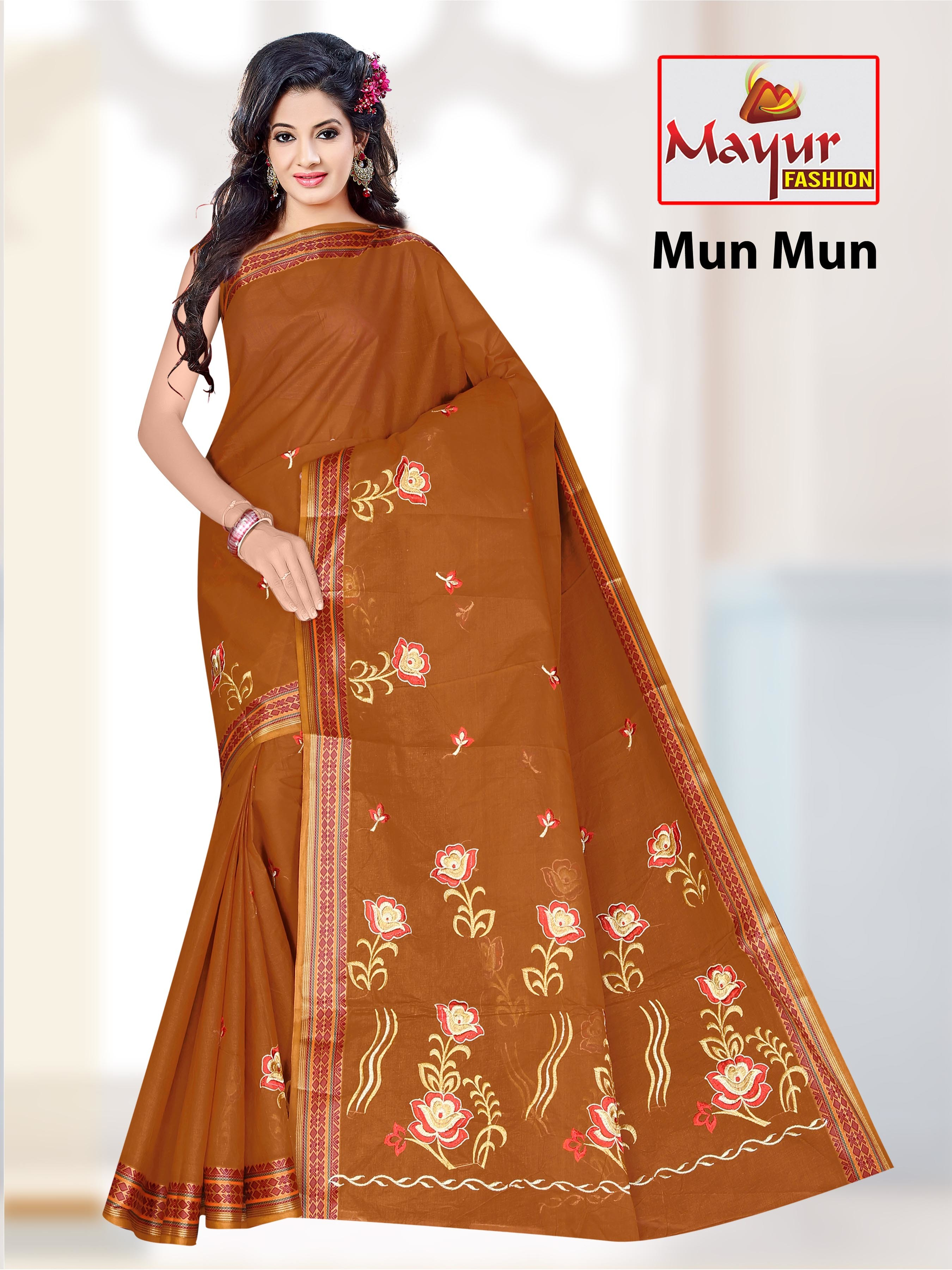 Cotton Embroidery Saree Exporters