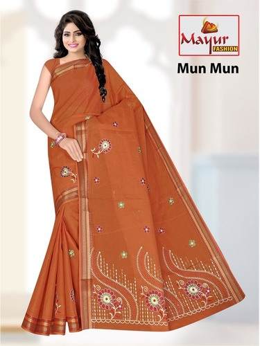 Ladies Cotton Work Saree