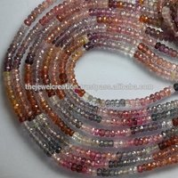 Natural Multi Spinel Faceted Rondelle Beads