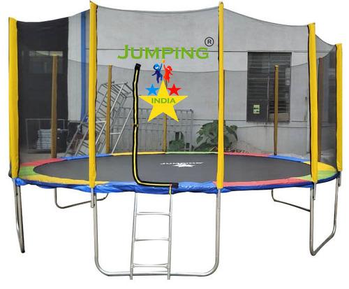 Kid Playing Trampoline