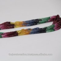 Natural Multi Precious Stone Sapphire Beads Ruby Emerald