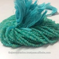 Natural Amazonite Faceted Rondelle Gemstone Beads Strand