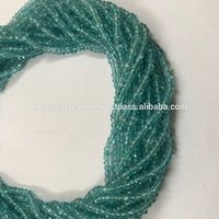 Natural Blue Apatite Rondelle Wholesale Beads 4mm