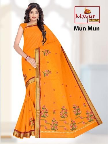 Women Wear Cotton work Saree
