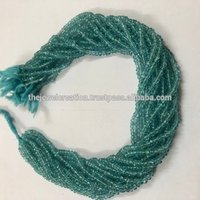 Natural Blue Apatite Faceted Beads 3mm From Jaipur