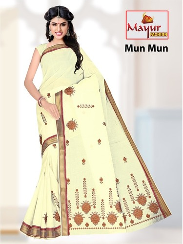 Embroidery Saree In Jetpur